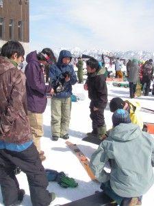 Splitboard demo. Iwataka, Japan