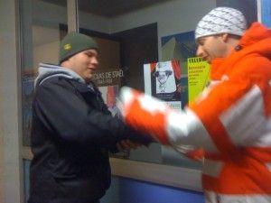 Heated thumb wrestling battle