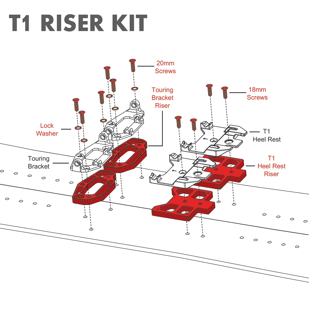 T1-Riser-Kit-Exploded-View