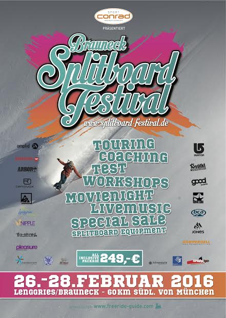 Bruaneck Splitboard Festival Poster