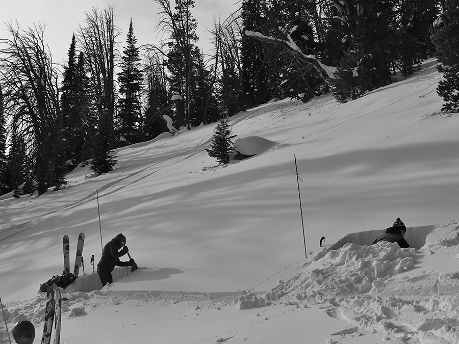 digging pits in the backcountry