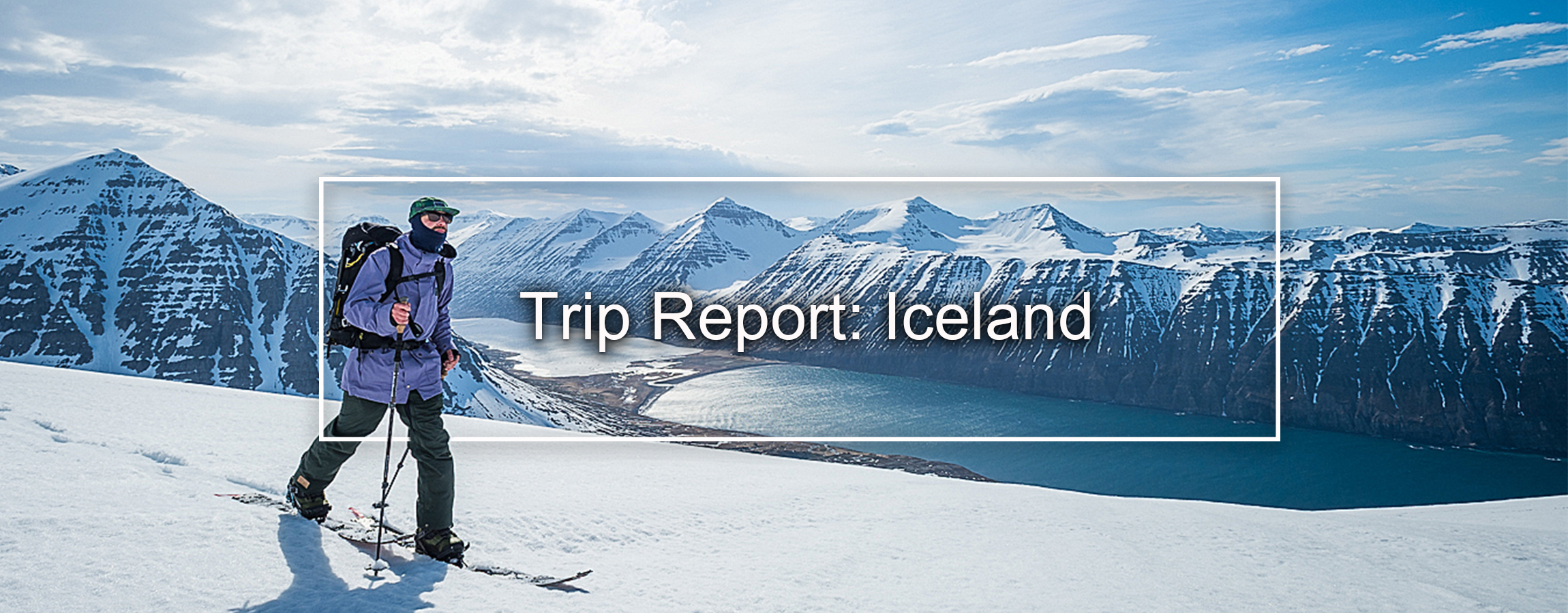 Mike Handford splitboarding iceland