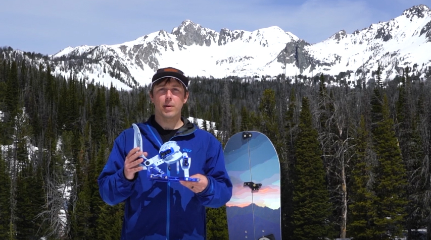 Dan Ventura explaining Surge splitboard bindings