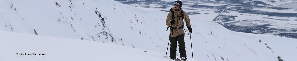 Antti splitboarding