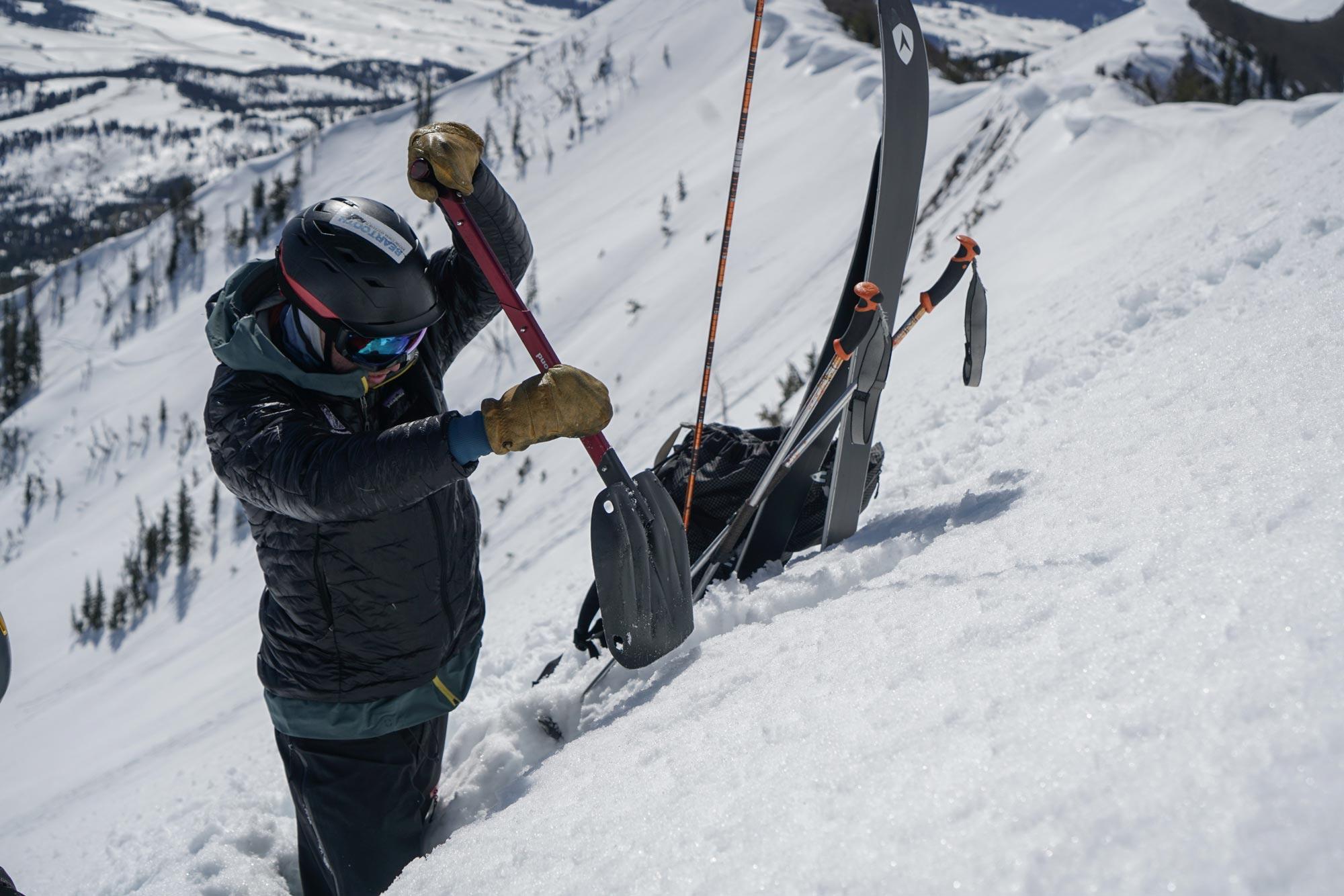 Alex digging snowpit