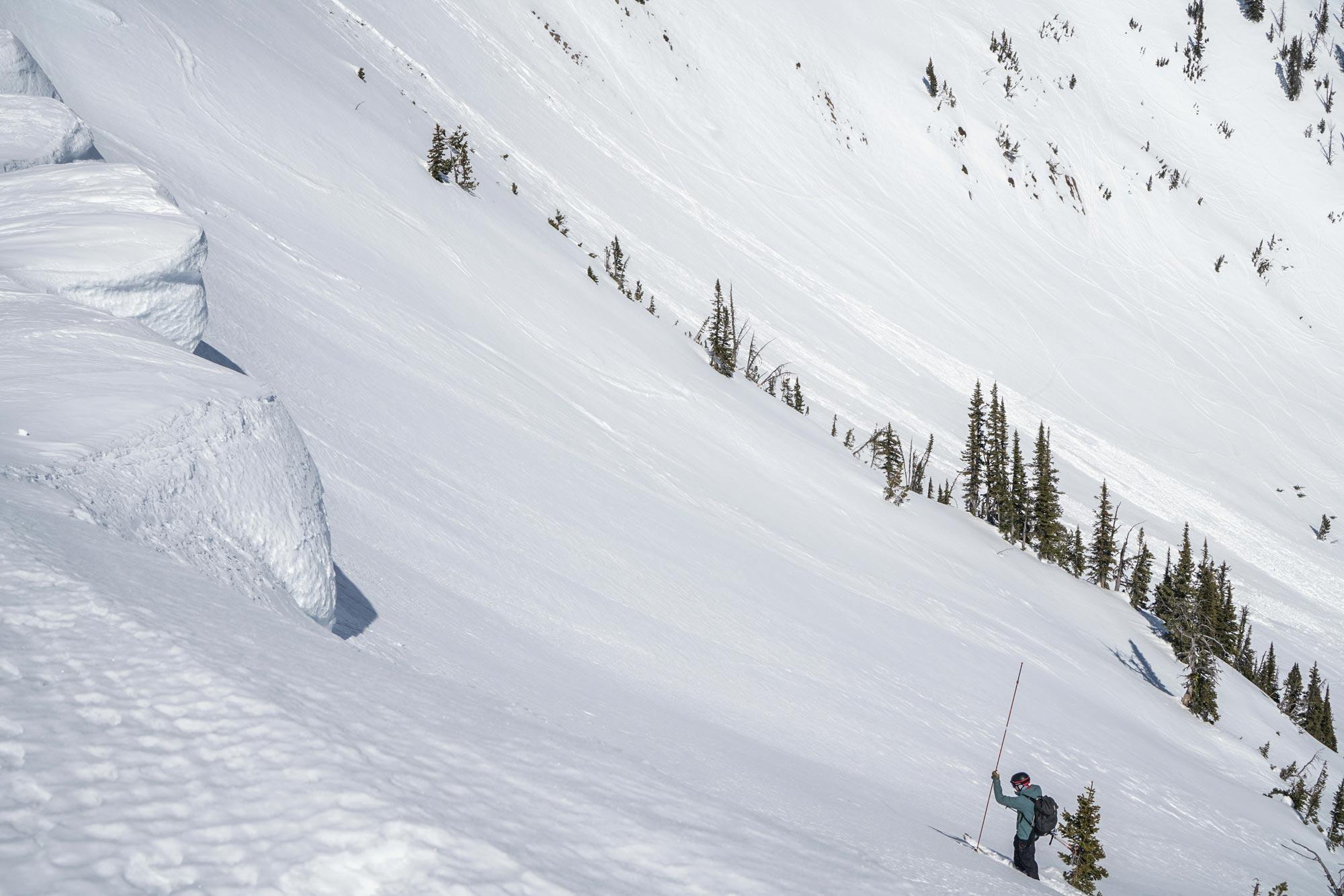 Alex probing on saddle peak