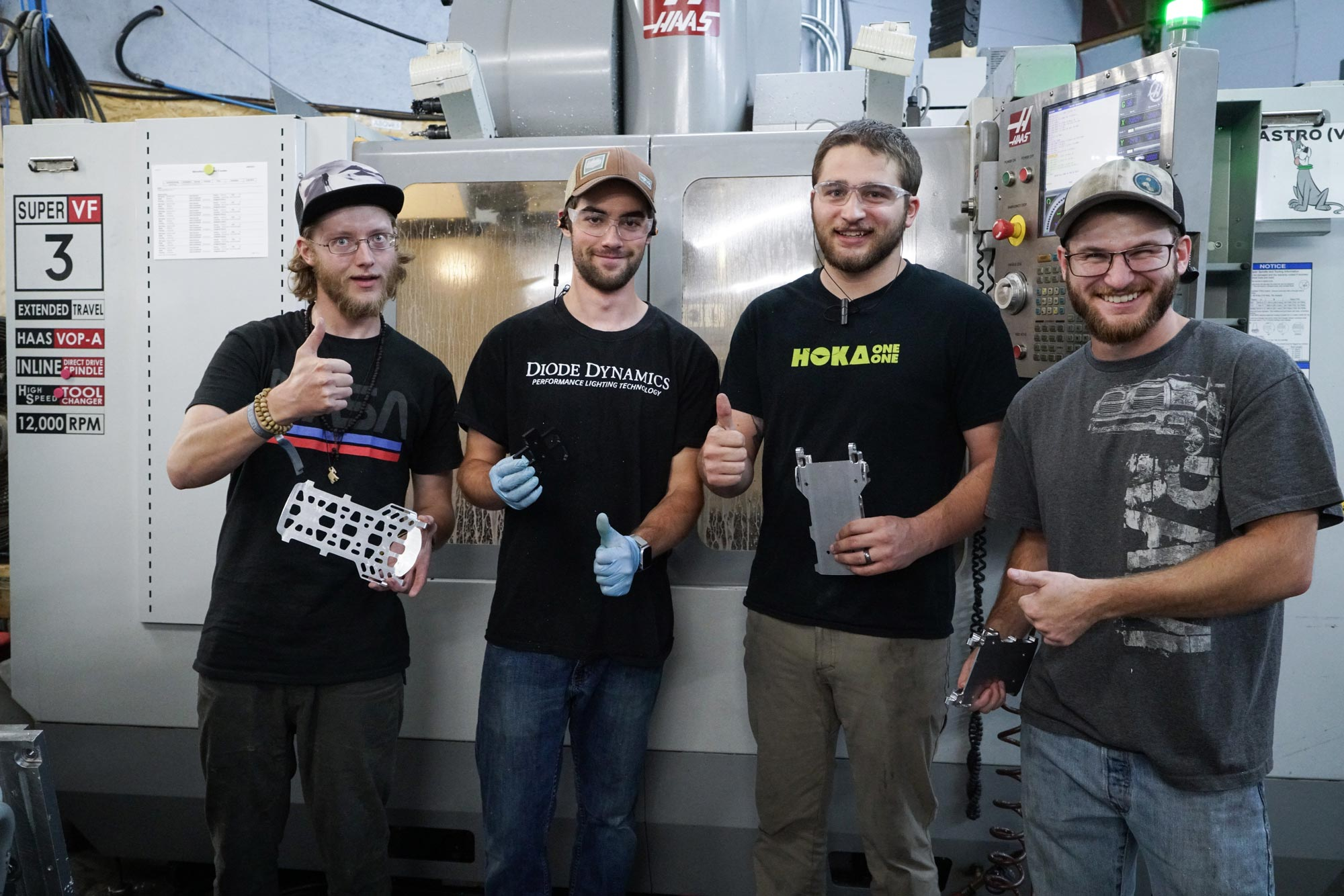 machinists at Spark R&D