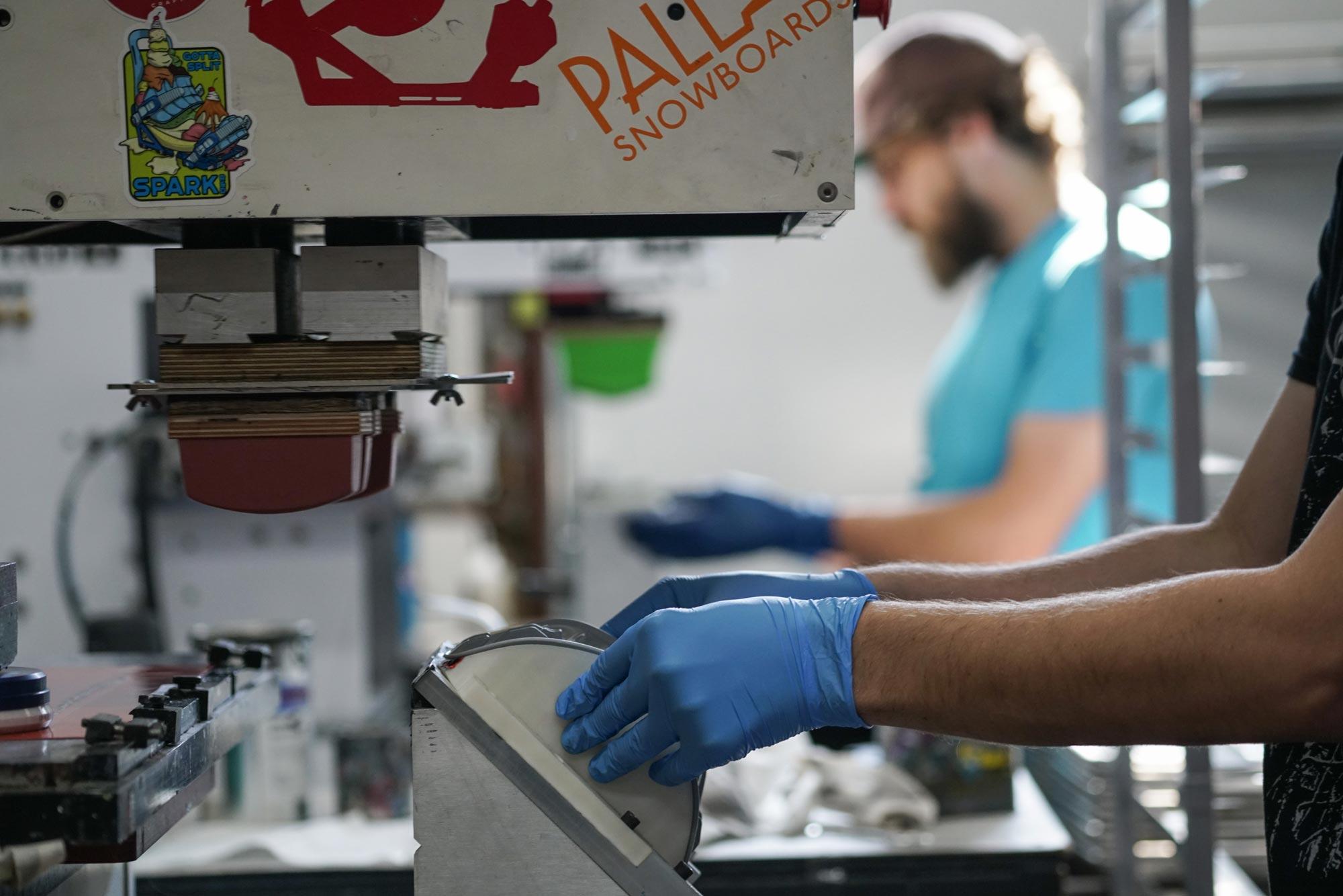 Pad printing at Spark R&D