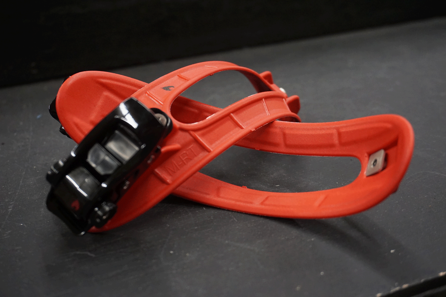 red injection molded toe straps