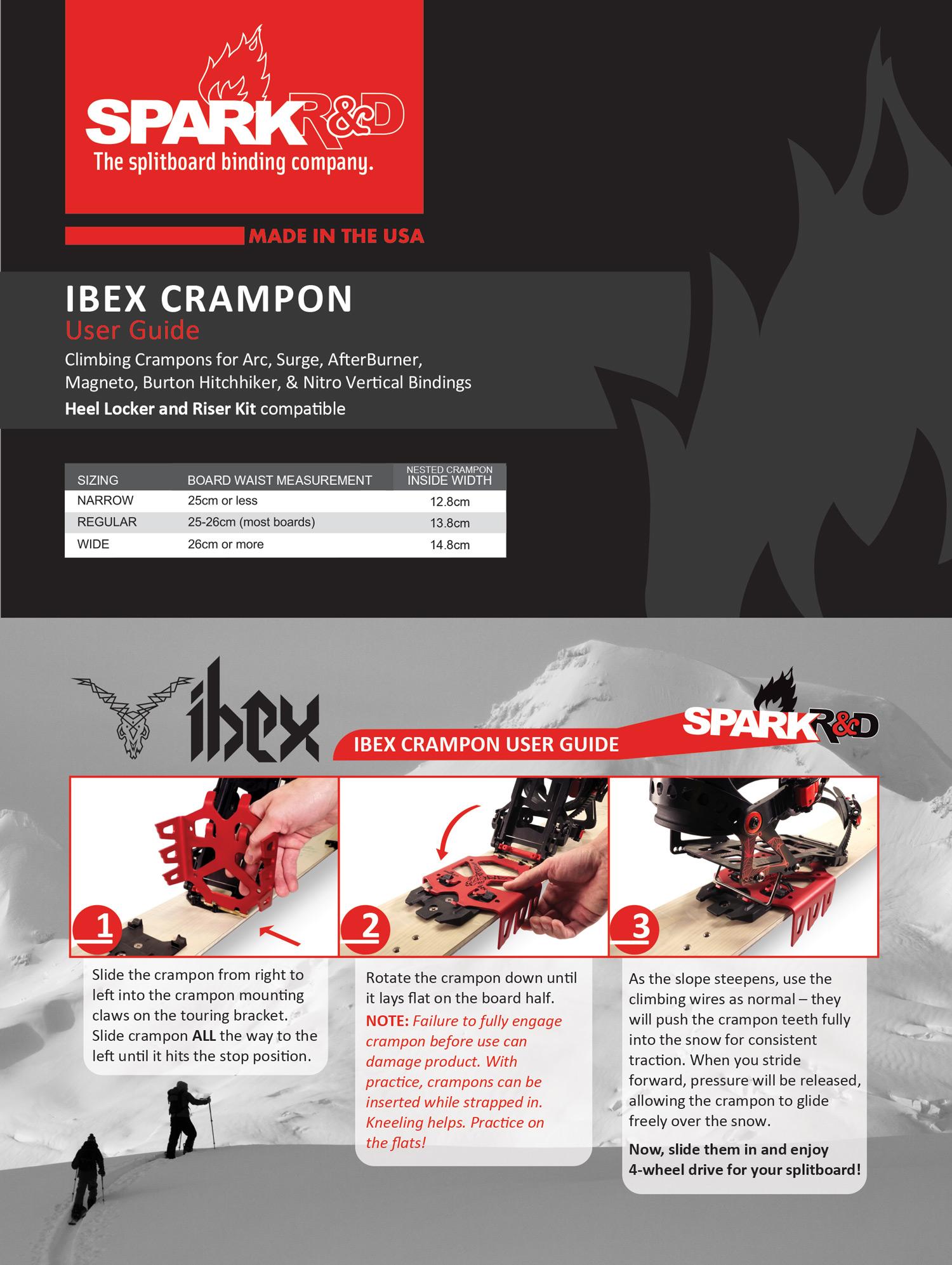 Spark R/&D Touring Ibexs Reg Splitboard Crampons