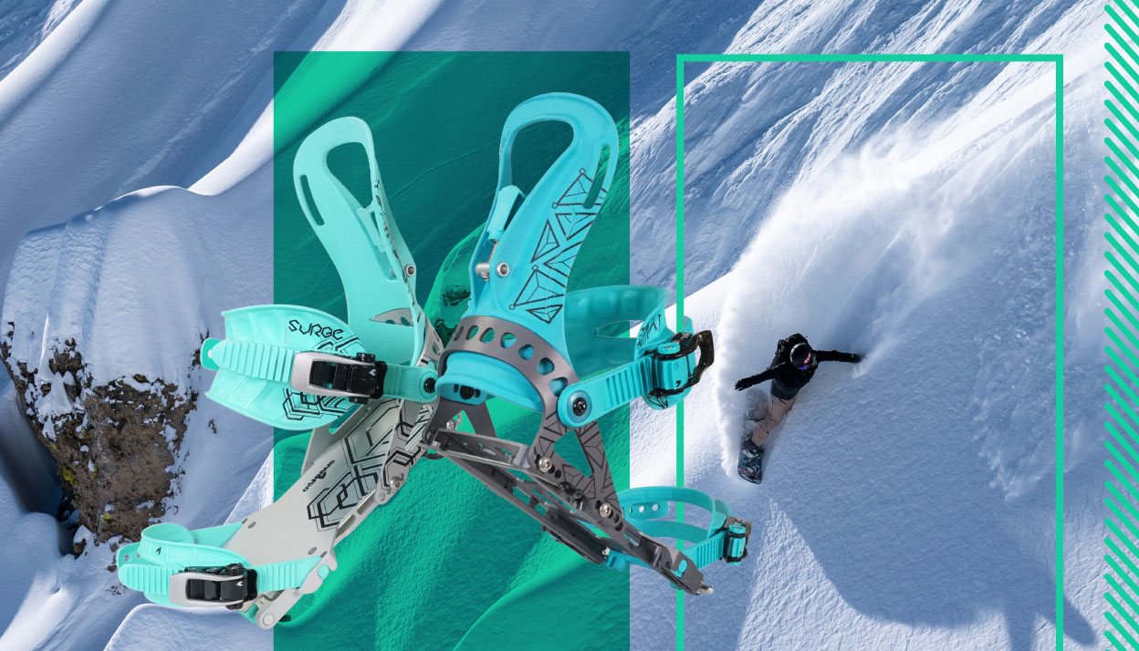 Women's splitboard bindings slider image with Elena Hight