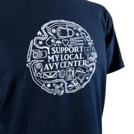 I support my avalanche center t-shirt